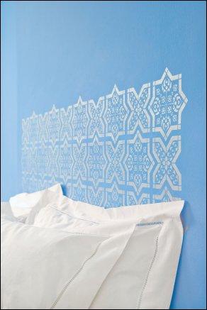 OTT40 - Ottoman Tile No 10 stencil view 2.