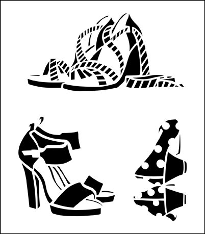 Y-97 - Shoes stencil.