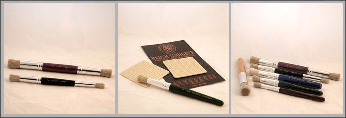 Accessories Stencilling brushes, brush scrubber & pencils