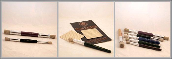 Accessories Stencilling brushes, brush scrubber & pencils
